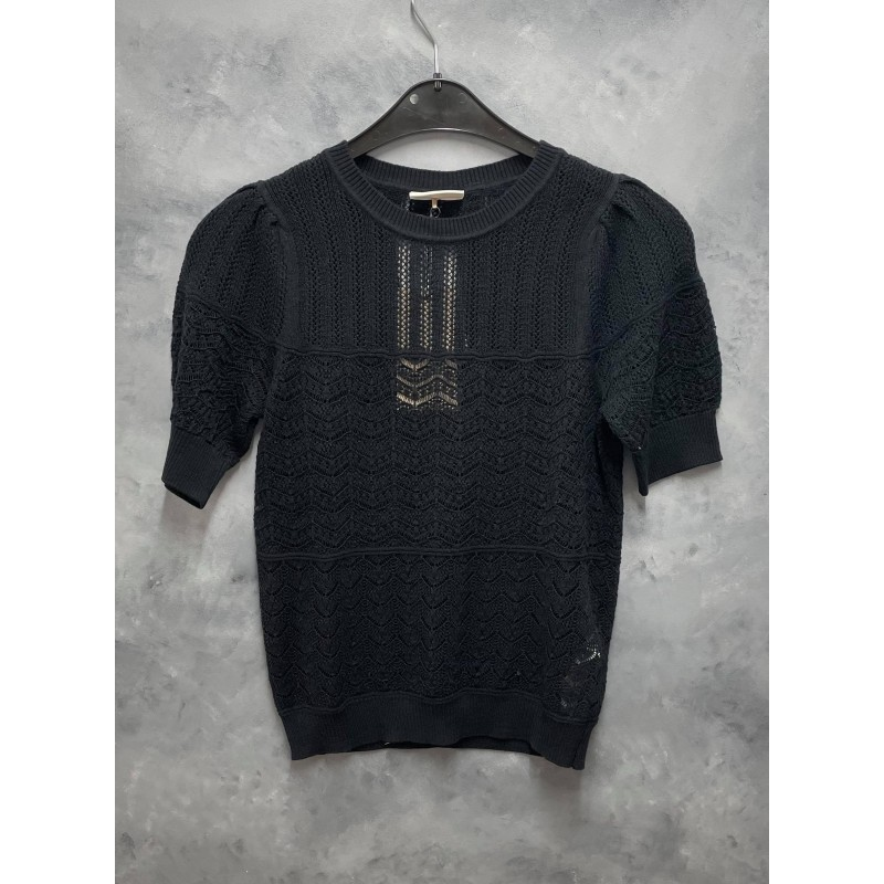 Freequent Nell Pullover Pointelle Black