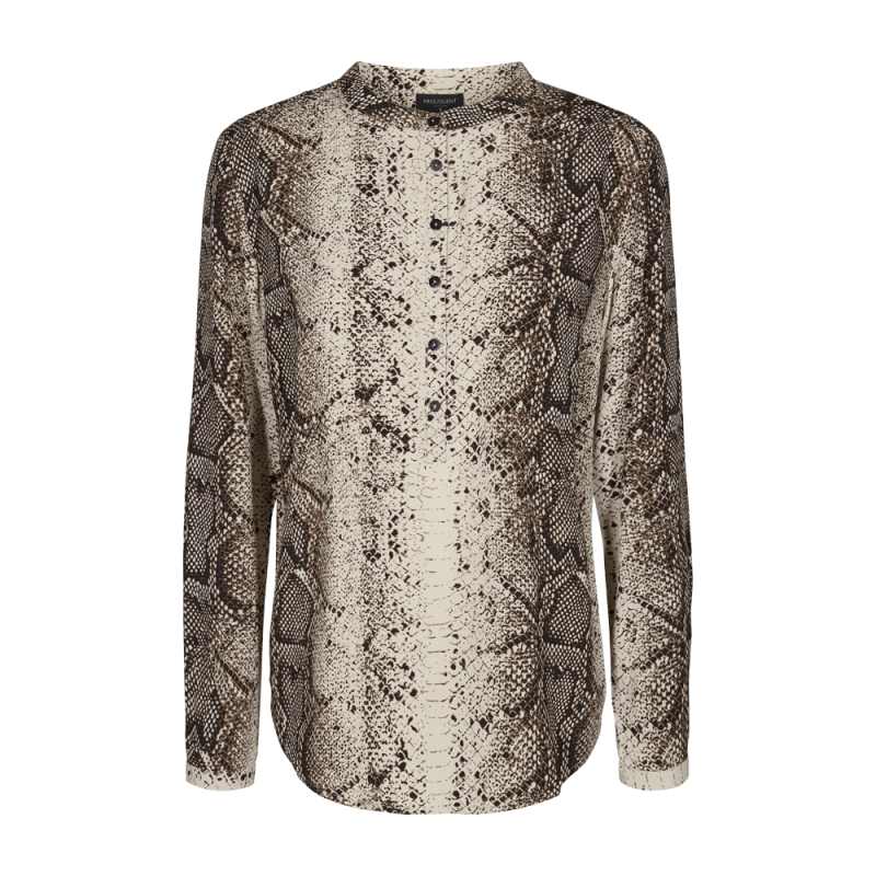 Freequent Adney Long Sleeve Wild Snake Print