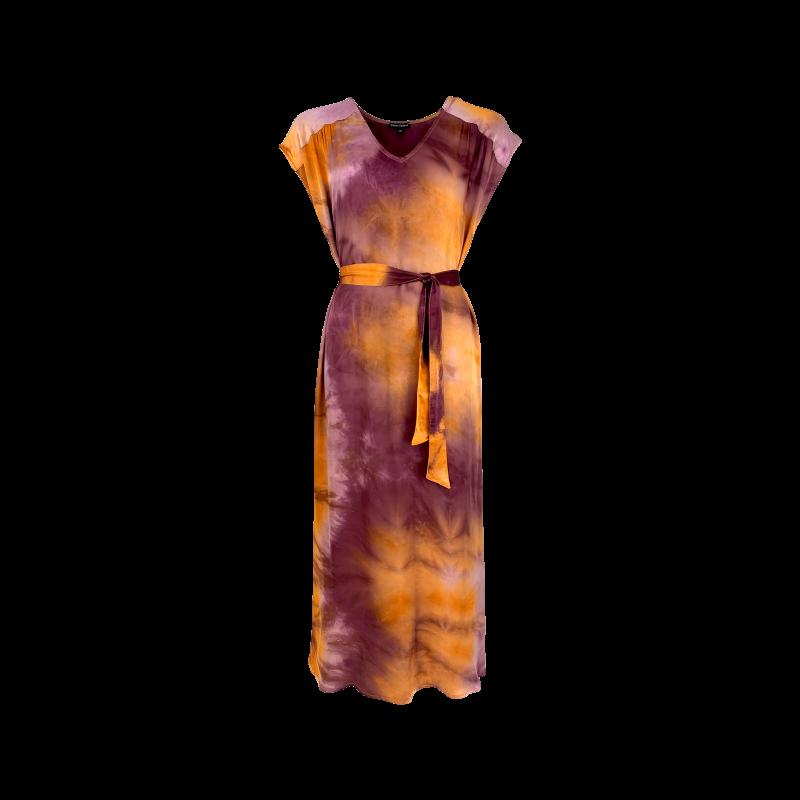 Black Colour Dakota Satin S/S Dress Ruby
