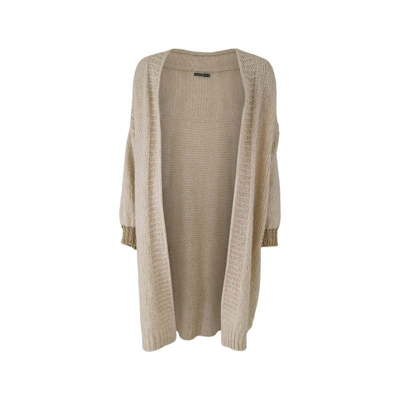Black Colour Lissie Plain Cardigan Off White One Size