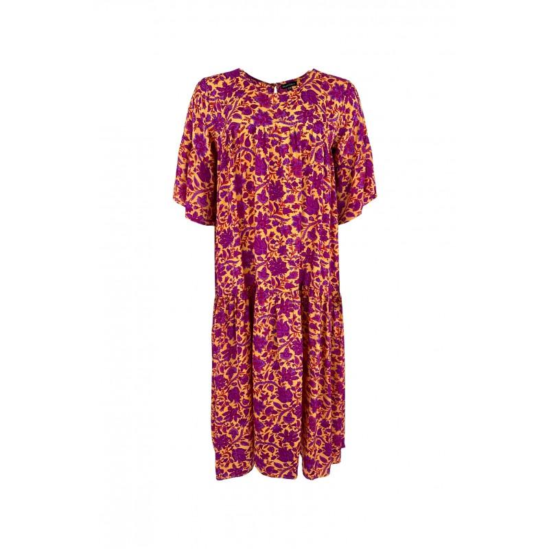 Black Colour Luna Lex Short Sleeves Maxi Dress Exotic Vibe