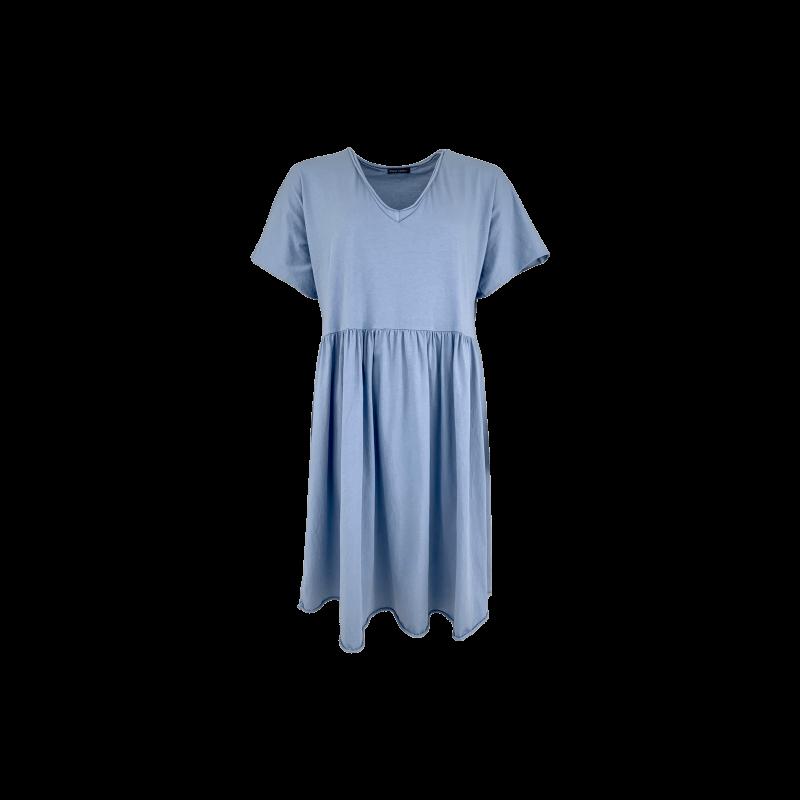 Black Colour Mimi T-shirt Dress Jeans Blue