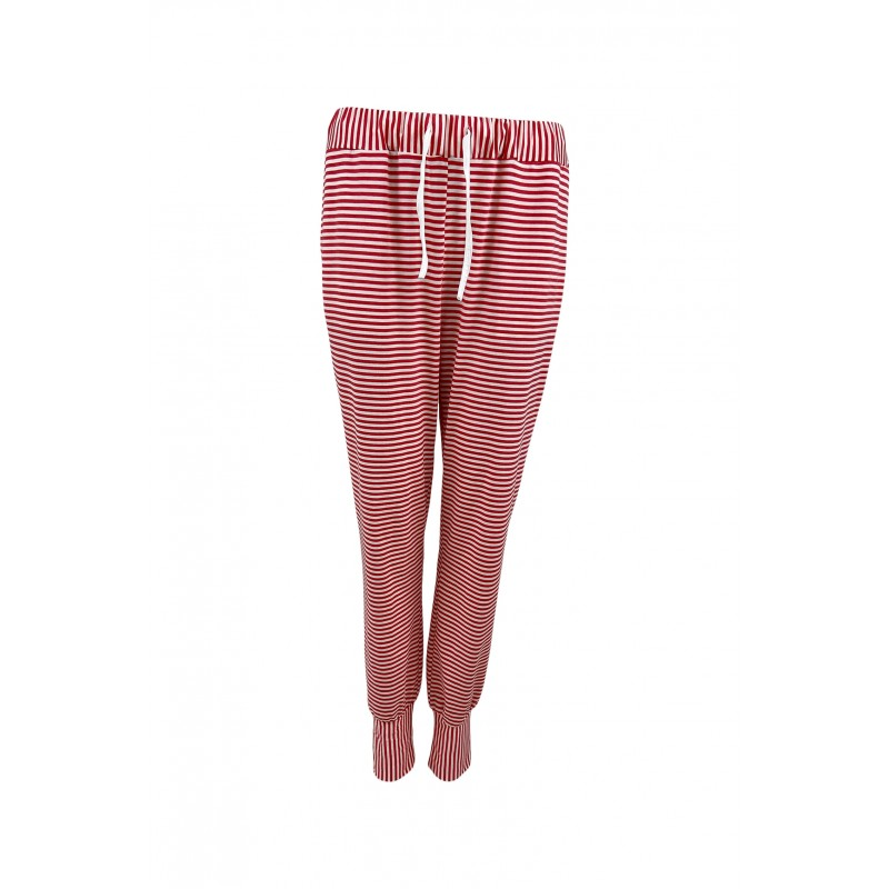 Black Colour Polly Striped Jersey Pants Coral