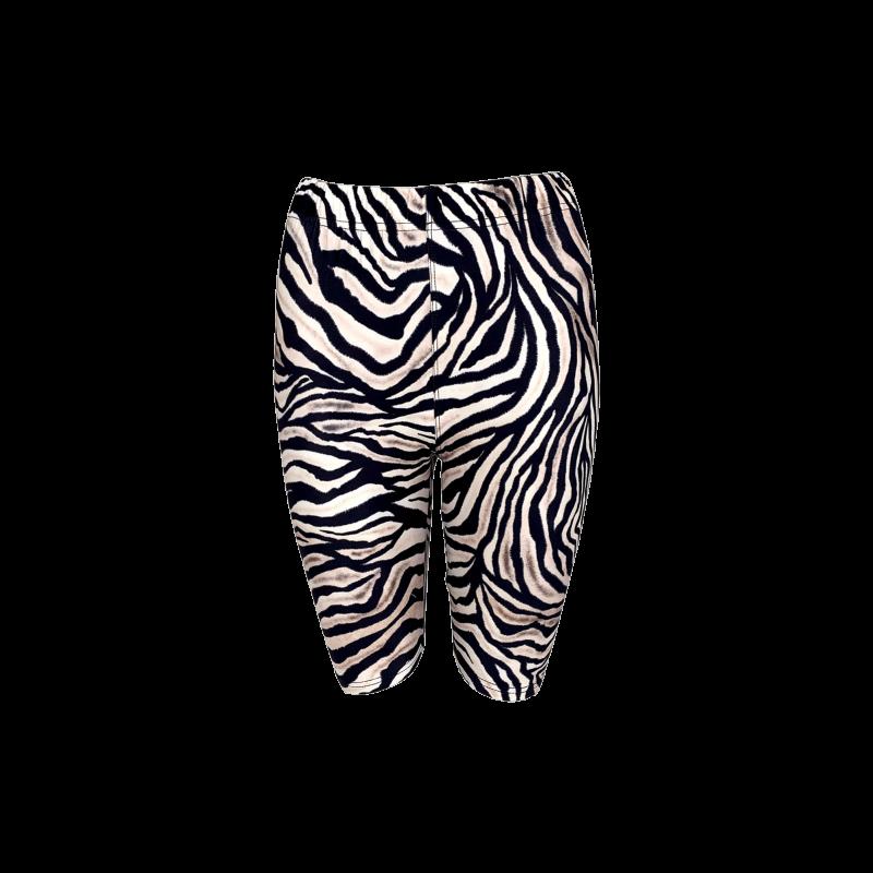 Black Colour Zoil Zebra Tight Shorts Zebra