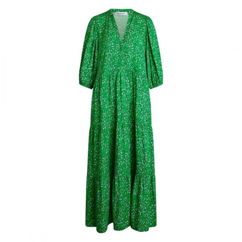 Có Couture Field Flower Floor Dress Green