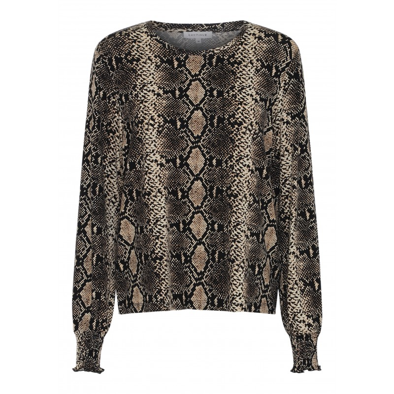 Continue Cph Anne Snake Jersey Blouse