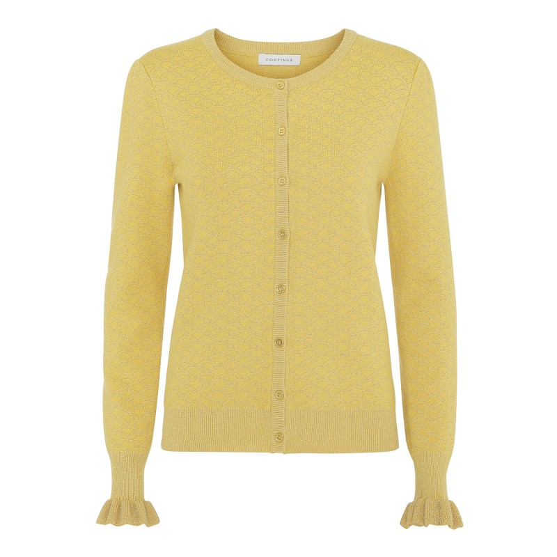 Continue Cph Claire Knit Lurex Yellow