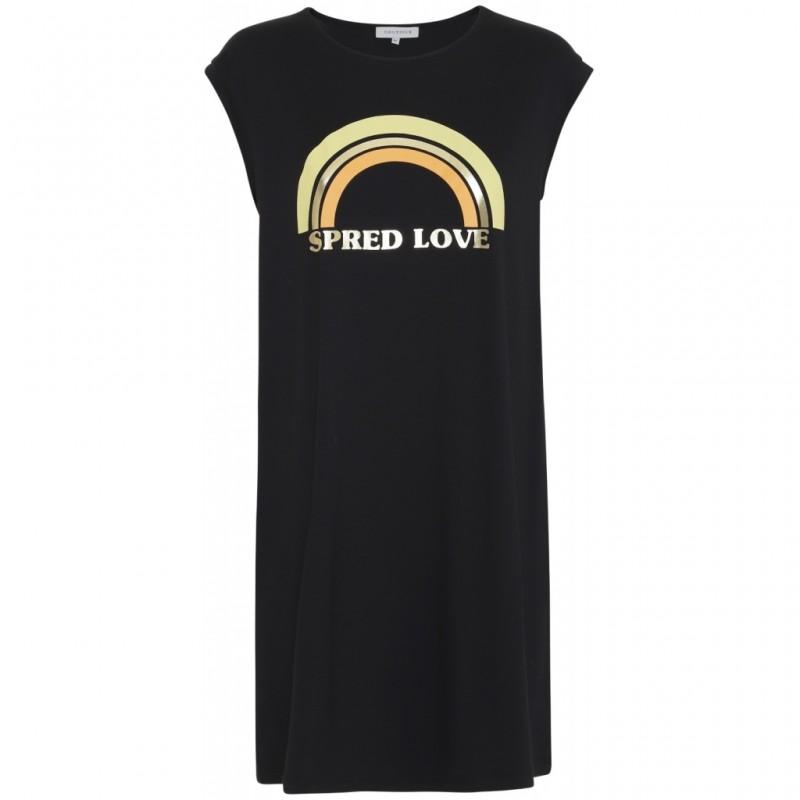 Continue Cph Dicte Rainbow Dress Black