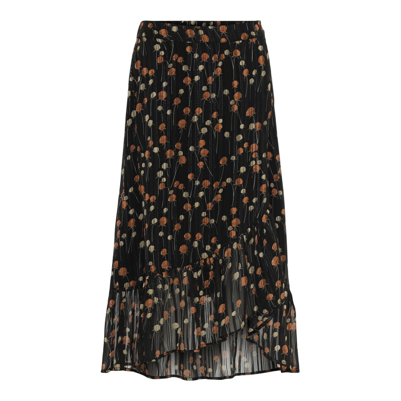 Continue Cph Macy Skirt Black Orange Dots