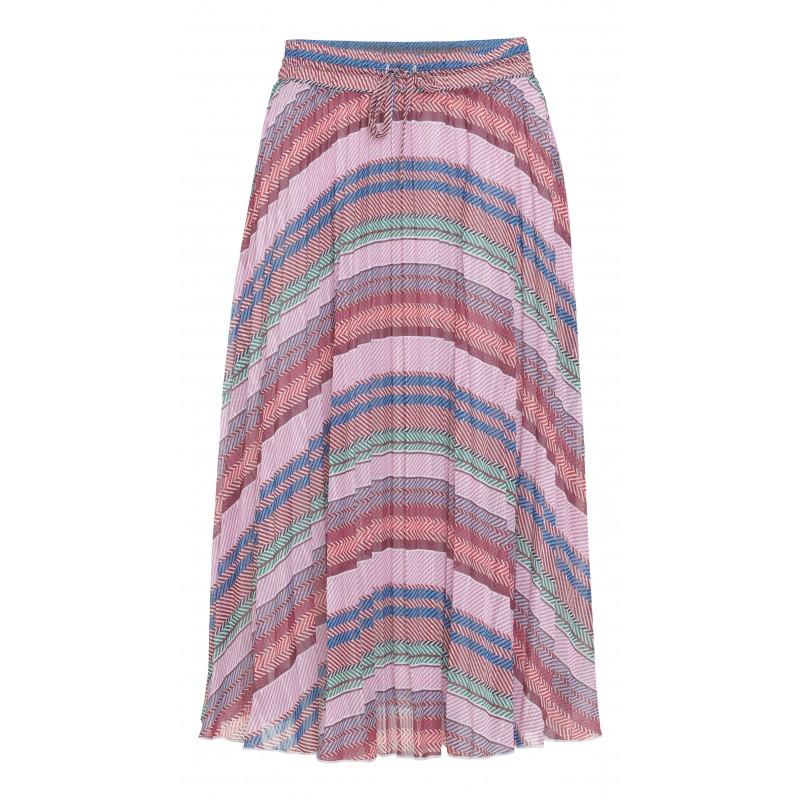 Continue Cph Olga Skirt Stripe Plisse