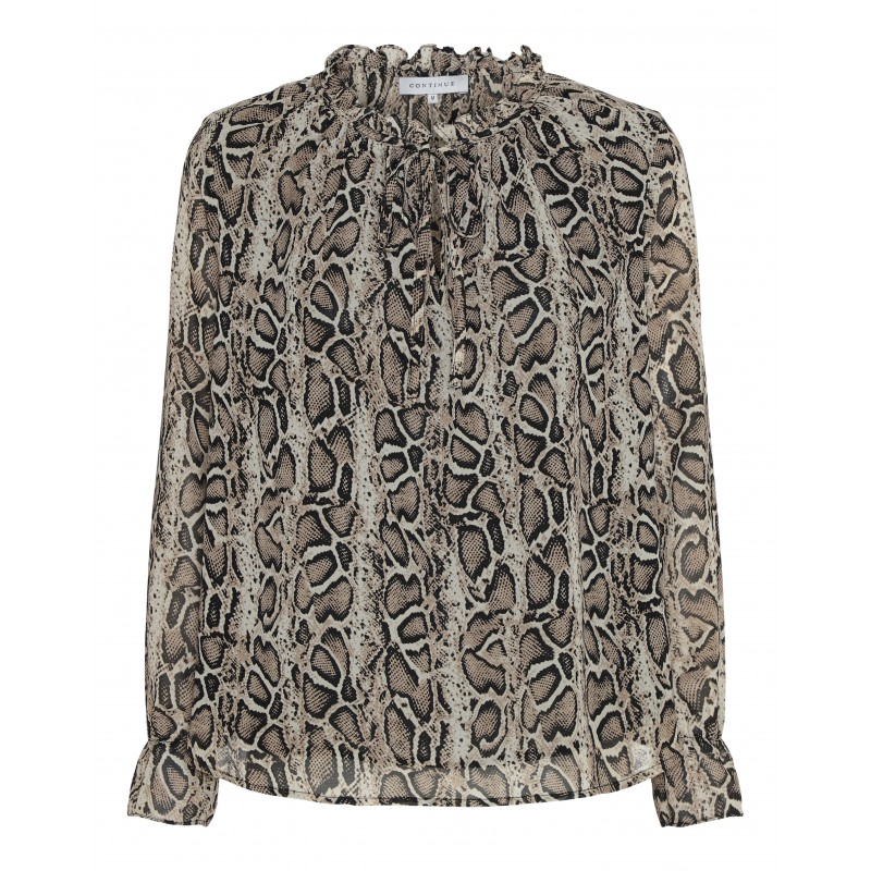 Continue Cph Tanja Snake Blouse Beige