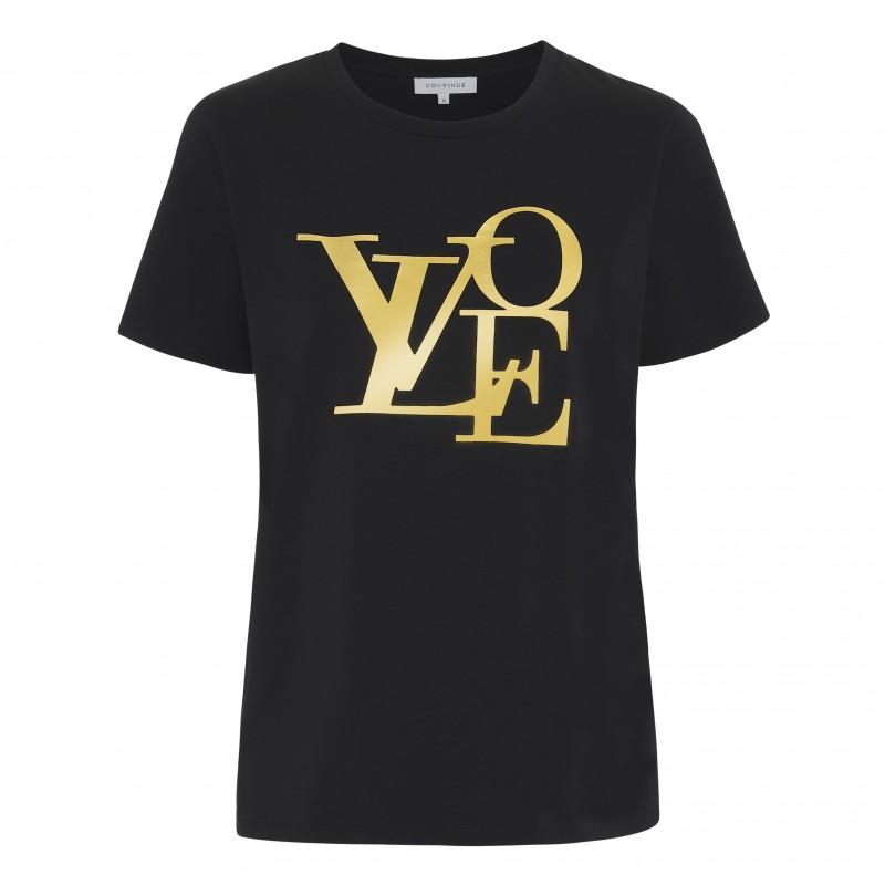 Continue Freja Love Black W. Gold