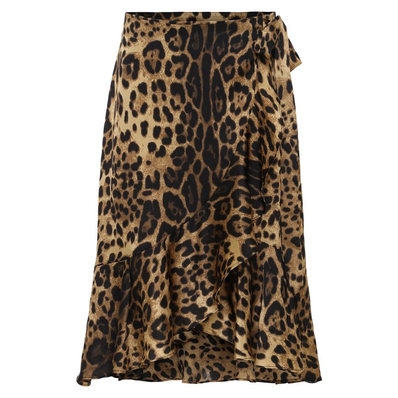 Continue Lisa Wrap Skirt Leopard
