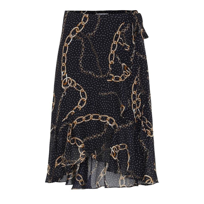 Continue Cph Lisa Wrap Skirt Navy