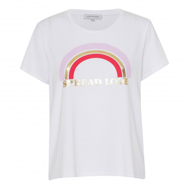 Continue Cph Rainbow T-shirt White
