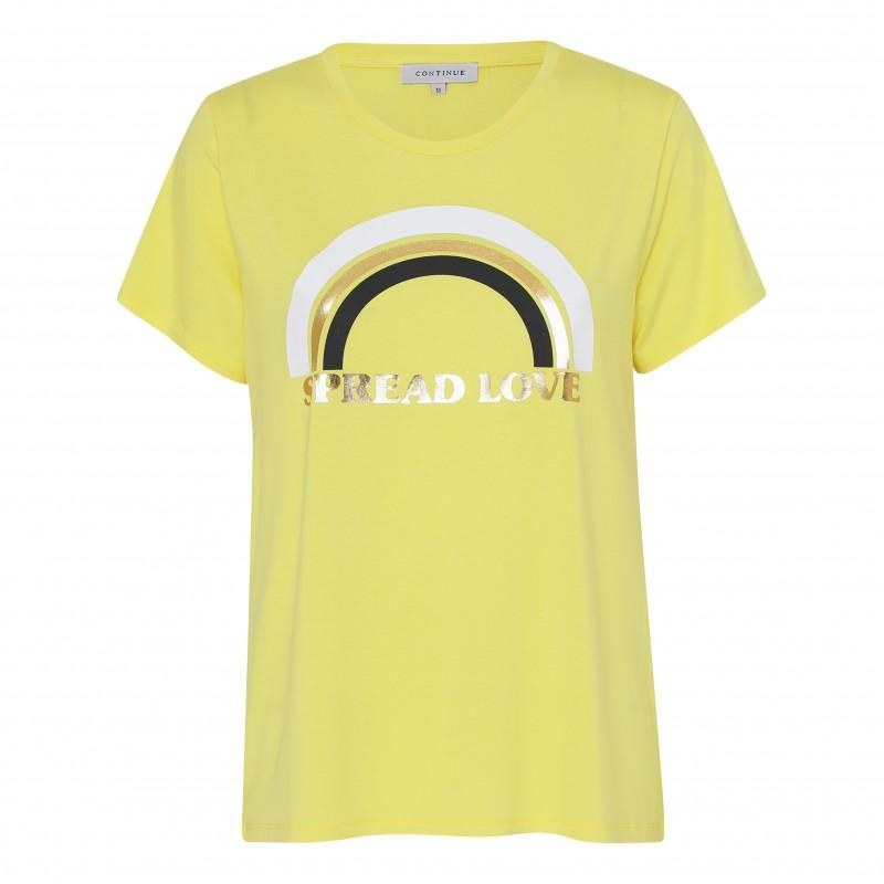 Continue Cph Rainbow T-shirt Yellow