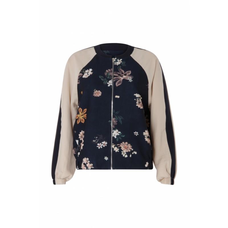 Coster Copenhagen Bomber Jacket W. Flower Print Soft