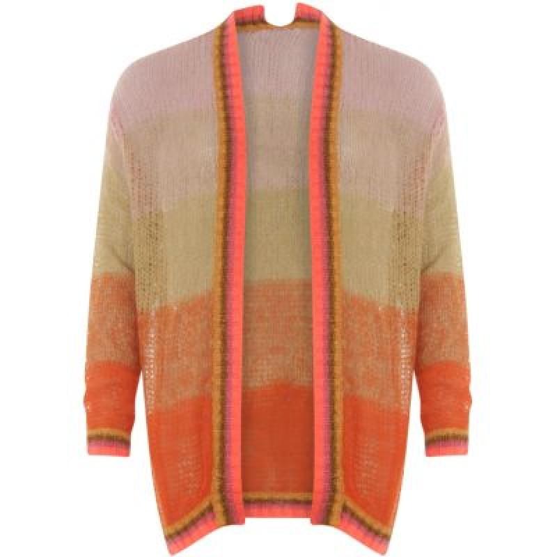 Coster Copenhagen Cardigan In Mohair And Handknit Look Stripes