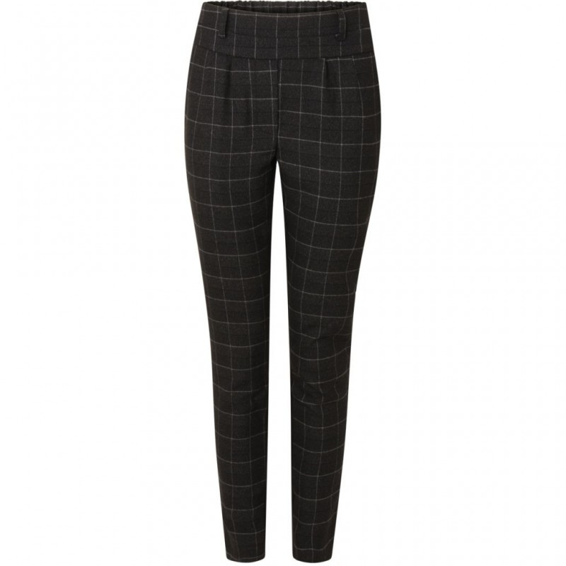 Coster Copenhagen Checked Pants W. Jersey Back