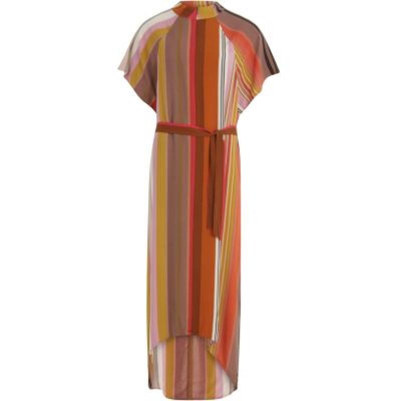 Coster Copenhagen Dress In Stripe Print W. Zipper At Front
