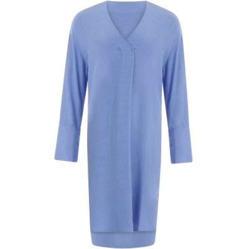 Coster Copenhagen Dress W. V-neck And Button Details Sky Blue