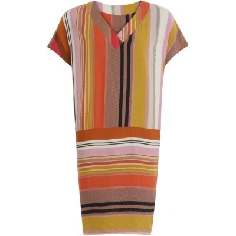 Coster Copenhagen Dress W. V-Neck And Stripes