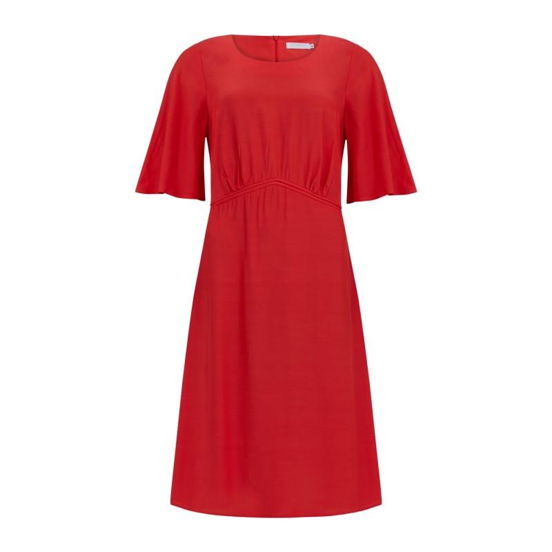 Coster Copenhagen Dress With Volume Skirt Poppy Red