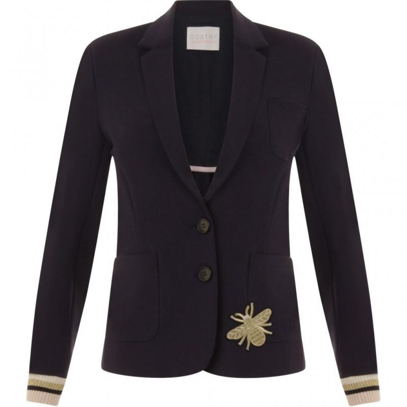Coster Copenhagen Heavy Jersey Suit Jacket W. Appliques Dark Blue