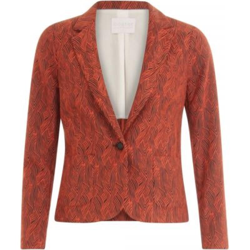 Coster Copenhagen Jacket In Wave Jacquard Stretch W. Applied Pockets Grenadine