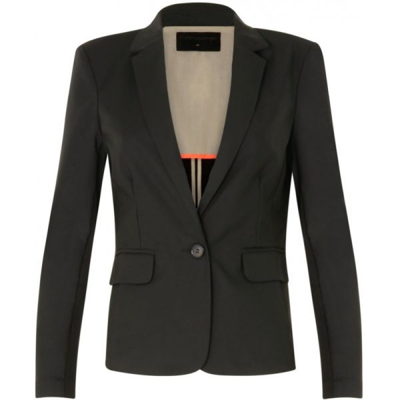 Coster Copenhagen Jacket W. Rib At Side Black