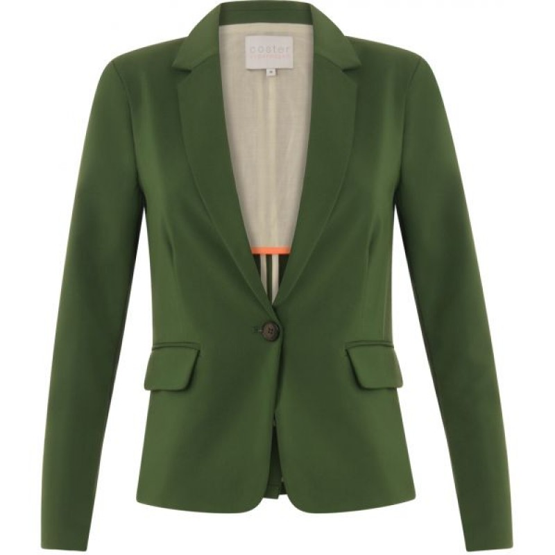 Coster Copenhagen Suit Jacket W. Rib At Side Jelly Green