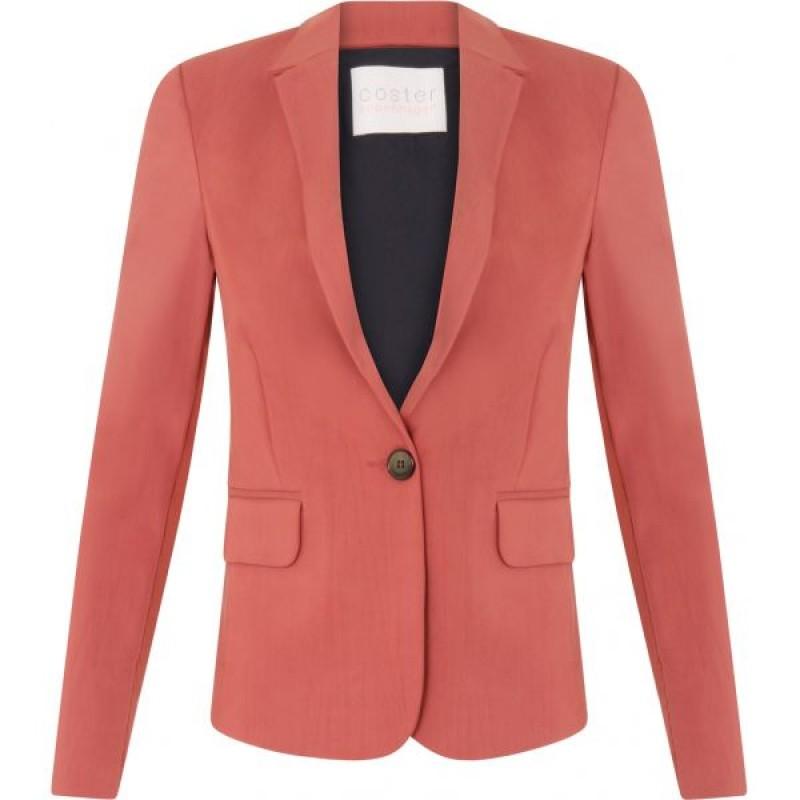 Coster Copenhagen Jacket W. Rib Detail Marsala