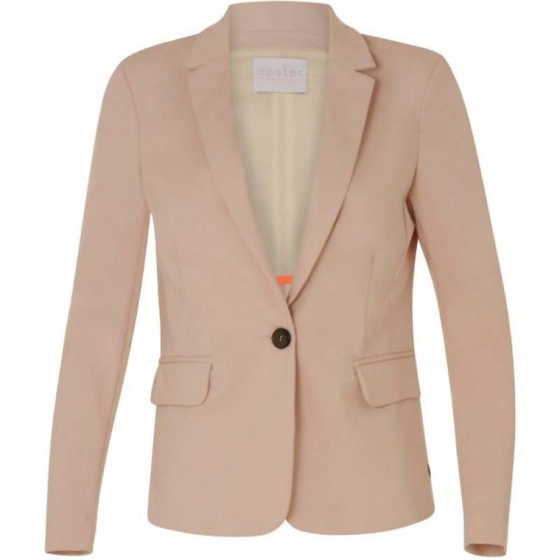 Coster Copenhagen Jacket W. Rib Detail Pearl Rose