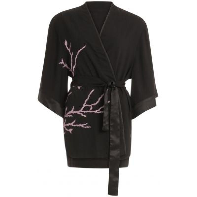 Coster Copenhagen Kimono W. Branch Embroidery Black