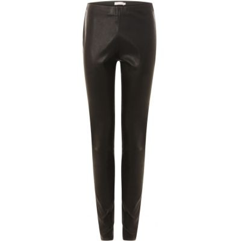 Coster Copenhagen Leather Stretch Leggings Mynte Black