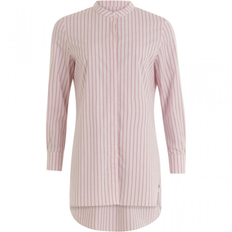 Coster Copenhagen Long Shirt W. Stripes Begonia Stripe