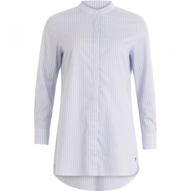 Coster Copenhagen Long Shirt W. Stripes Light Blue Stripe