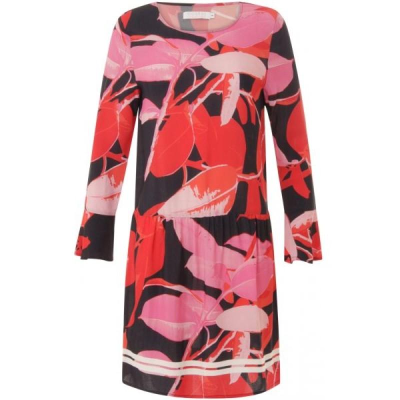 Coster Copenhagen Moss Crepe Dress W. Branch Print & Stripe