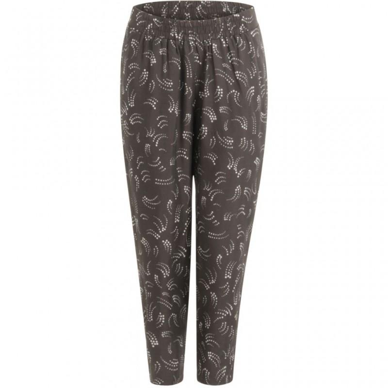 Coster Copenhagen Pants In Dot Print W. Elastic Waistband Grey Plum