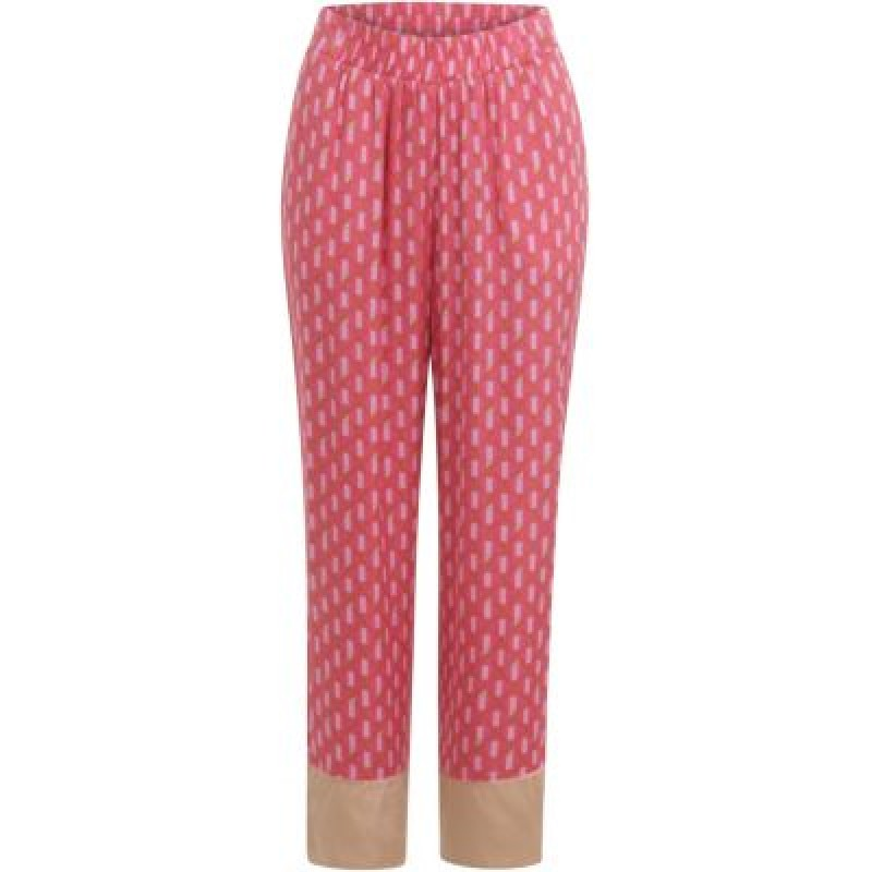 Coster Copenhagen Pants W. A Mix Of Prints Puffy Pink
