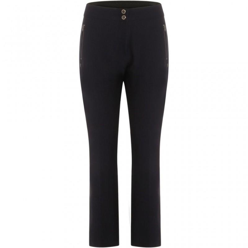 Coster Copenhagen Pants W. Bootcut Leg And Zipper Pockets Dark Navy