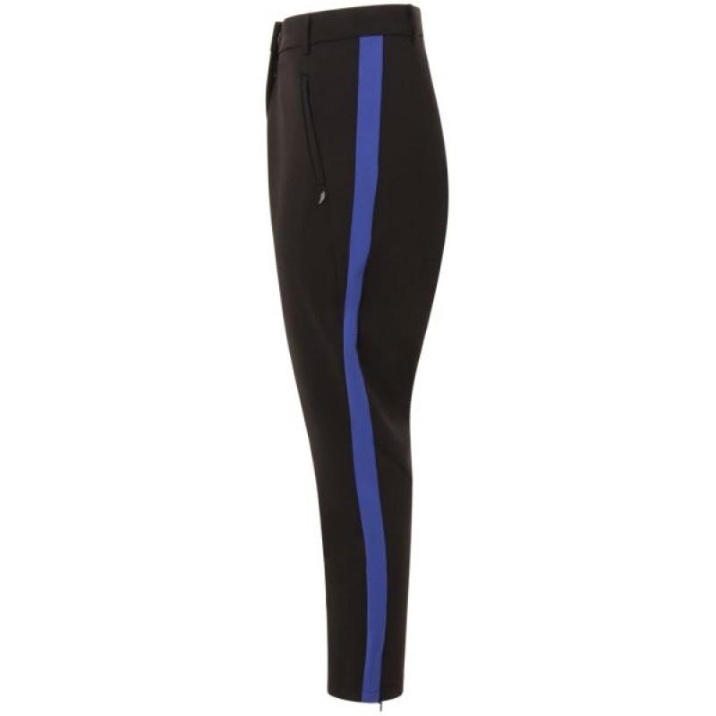 Coster Copenhagen Pants W. Stripe At Side Moroccan Blue