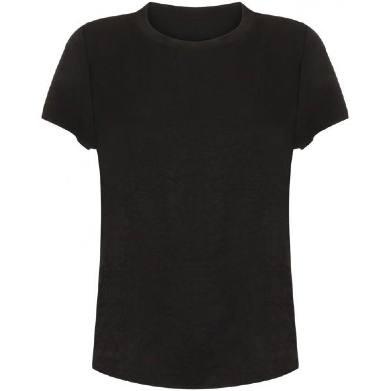 Coster Copenhagen Sateen Top W. Short Sleeve Black