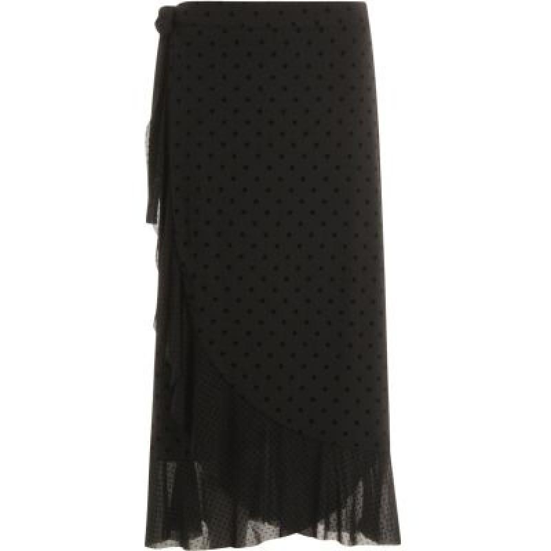 Coster Copenhagen Skirt In Mesh W. Velvet Dots Black