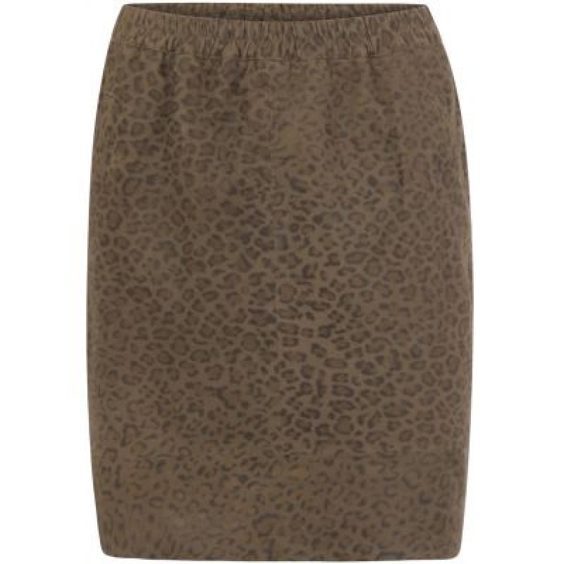 Coster Copenhagen Skirt In Suede W. Leopard Print Racoon Leopard