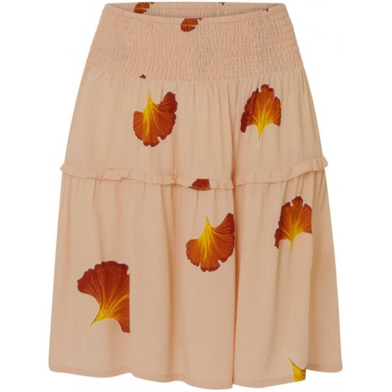 Coster Copenhagen Skirt W. Fan Flower Print