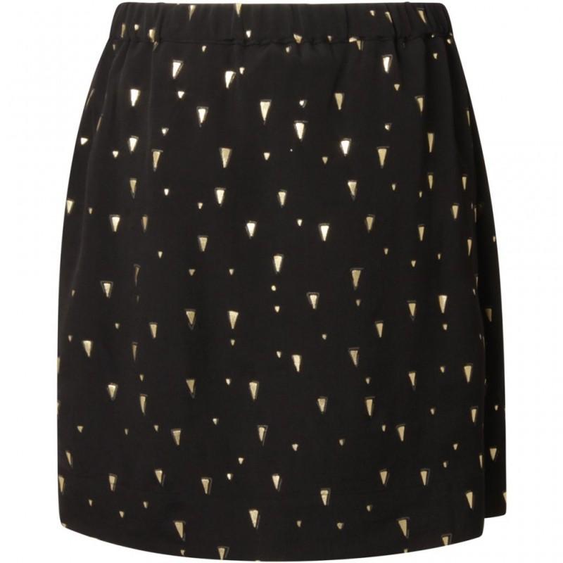 Coster Copenhagen Skirt W. Foil Print Black
