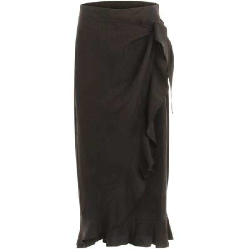 Coster Copenhagen Skirt W. Ruffles And Tieband Detail Black
