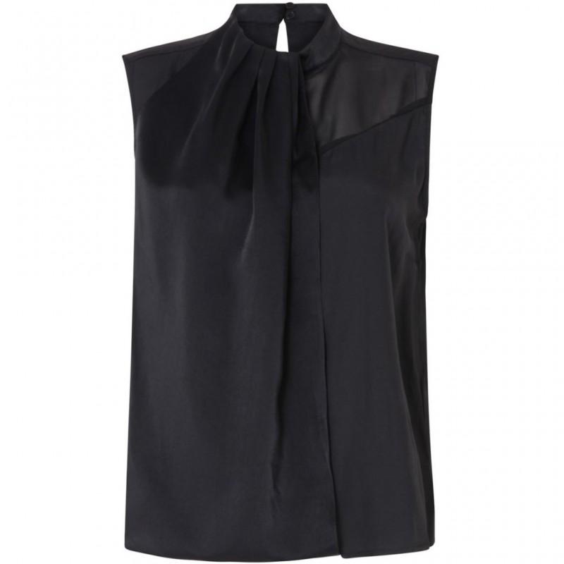 Coster Copenhagen Sleeveless Top W. Silk Black