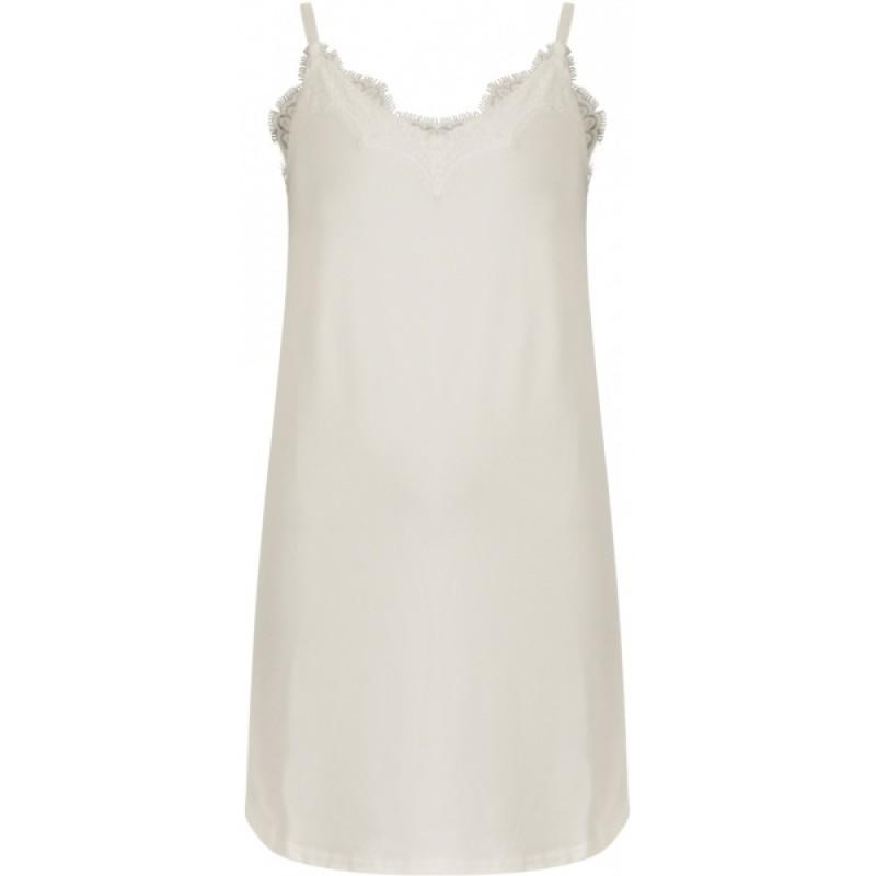 Coster Copenhagen Strap Dress W. Lace Off White